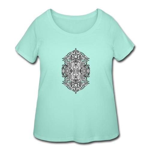 Eternal Voyage 4 - B&W - Women's Curvy T-Shirt