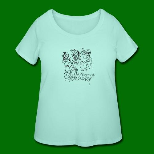 SickBoys Zombie - Women's Curvy T-Shirt