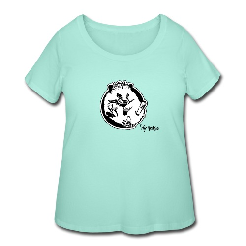 Look at my nails - Women's Curvy T-Shirt