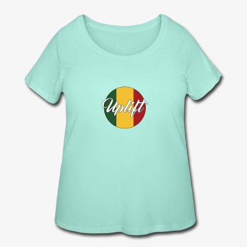 Uplift Rasta Basic // - Women's Curvy T-Shirt