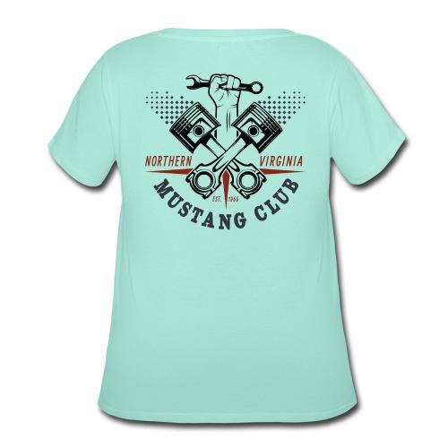 Crazy Pistons logo t-shirt - Women's Curvy T-Shirt