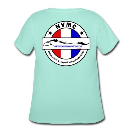 Circle logo t-shirt on white with black border - Women's Curvy T-Shirt