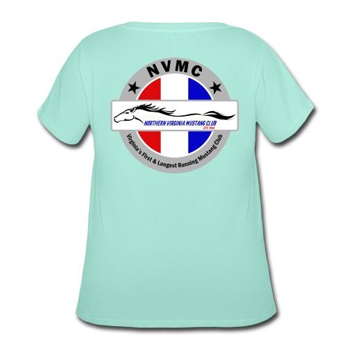 Circle logo t-shirt on silver/gray - Women's Curvy T-Shirt