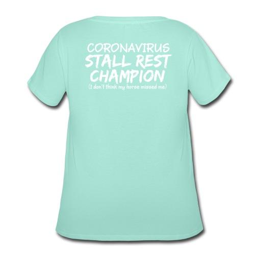 Stall Rest Champion - Women's Curvy T-Shirt