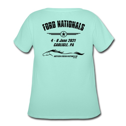 Ford Nationals 2021 with Mustang Flag - Women's Curvy T-Shirt