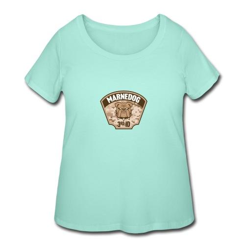 Desert Marne Dog (3rd ID) - Women's Curvy T-Shirt
