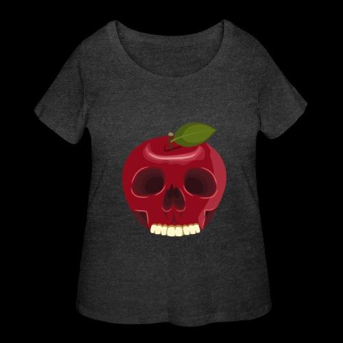 Apple Skull - Women's Curvy T-Shirt