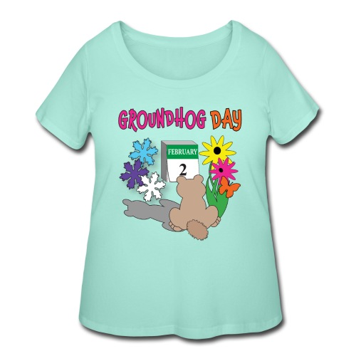 Groundhog Day Dilemma - Women's Curvy T-Shirt