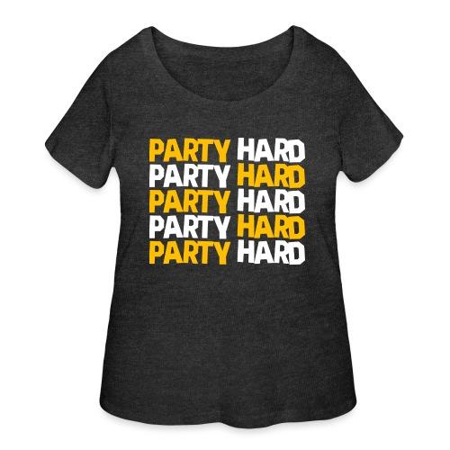 Party Hard - Women's Curvy T-Shirt