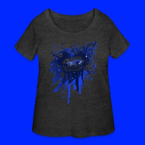 Vintage Cannonball Bingo Drip Blue - Women's Curvy T-Shirt