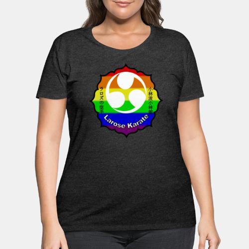 Larose Karate Rainbow Logo - Women's Curvy T-Shirt