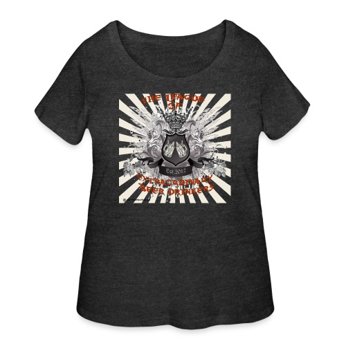 The League of Extraordinary Beer Drinkers Crest Wo - Women's Curvy T-Shirt