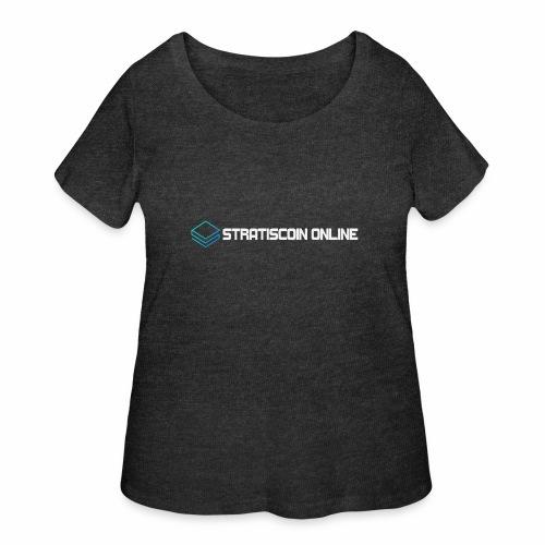 stratiscoin online light - Women's Curvy T-Shirt