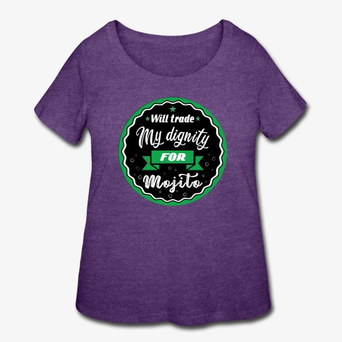 Will trade my dignity for mojito - Women's Curvy T-Shirt