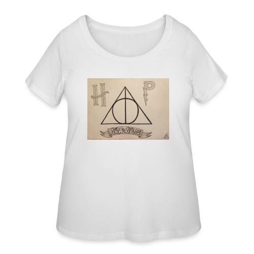 Deathly Hallows - Women's Curvy T-Shirt