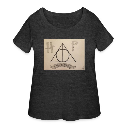 Deathly Hallows - Women's Curvy T-Shirt