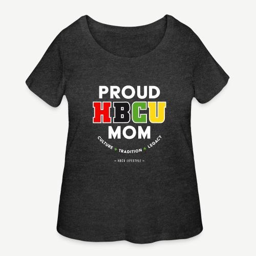 Proud HBCU Mom RGB - Women's Curvy T-Shirt