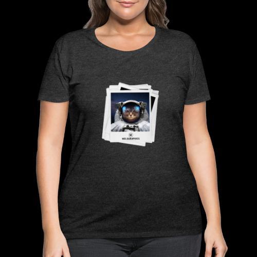 Cat Astronaut - Women's Curvy T-Shirt