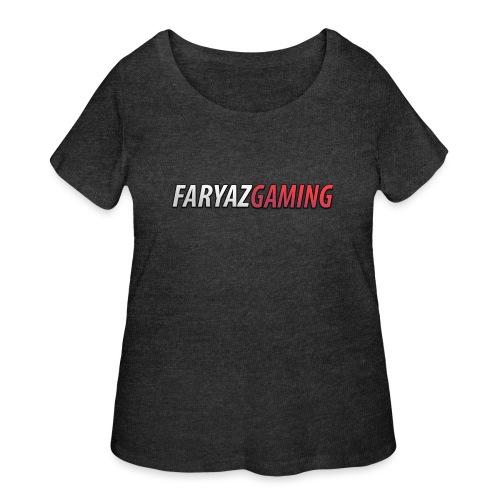 FaryazGaming Text - Women's Curvy T-Shirt