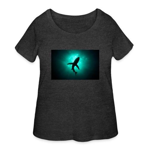 Shark in the abbis - Women's Curvy T-Shirt