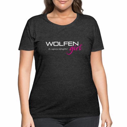 Wolfen Girl on Dark - Women's Curvy T-Shirt