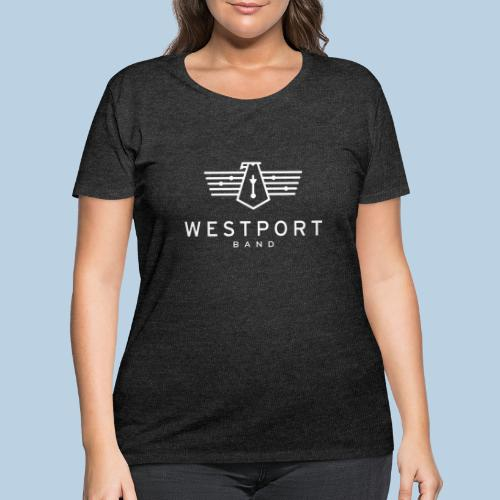 Westport Band White on transparent - Women's Curvy T-Shirt