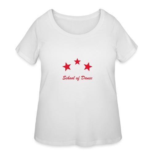 on black plus size - Women's Curvy T-Shirt