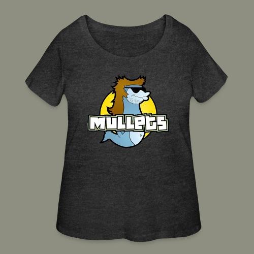 mullets logo - Women's Curvy T-Shirt