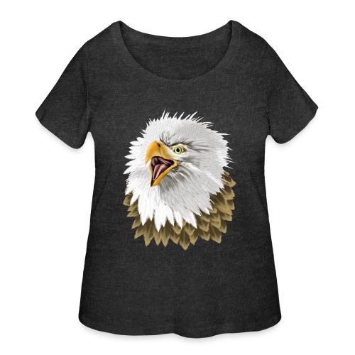Big, Bold Eagle - Women's Curvy T-Shirt