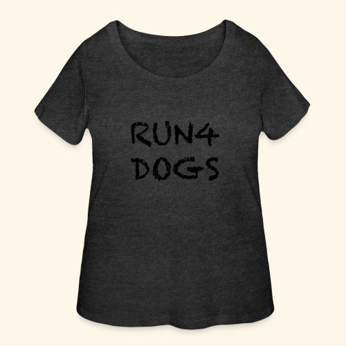 RUN4DOGS NAME - Women's Curvy T-Shirt