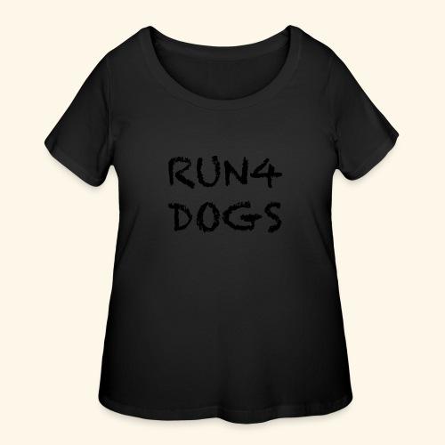 RUN4DOGS NAME - Women's Curvy T-Shirt