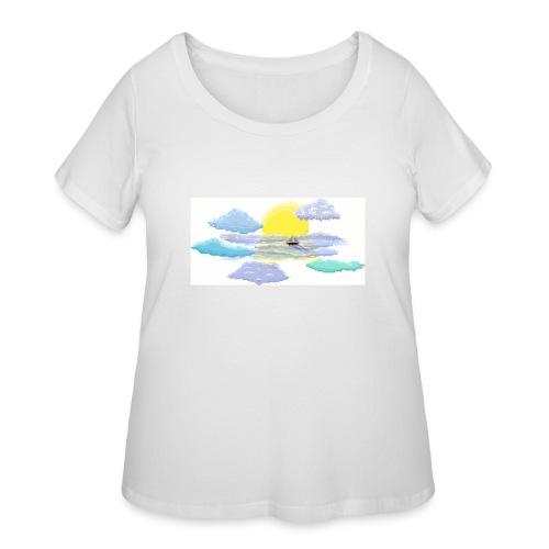 Sea of Clouds - Women's Curvy T-Shirt