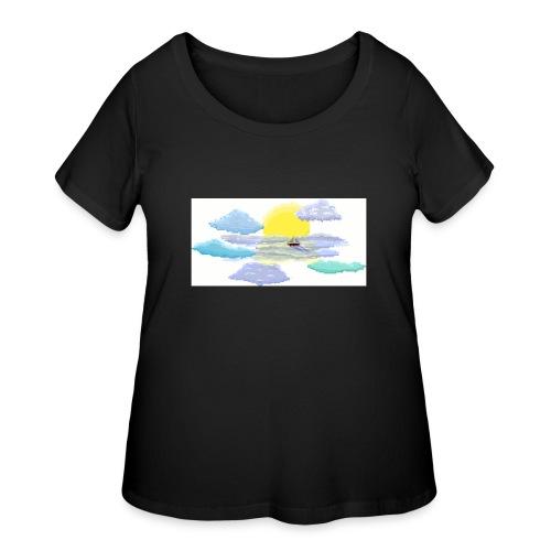 Sea of Clouds - Women's Curvy T-Shirt