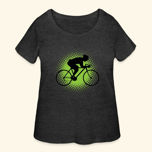 Biking Man Cyclist Gift - Women's Curvy T-Shirt