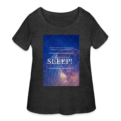 Sleep Galaxy by @lovesaccessories - Women's Curvy T-Shirt