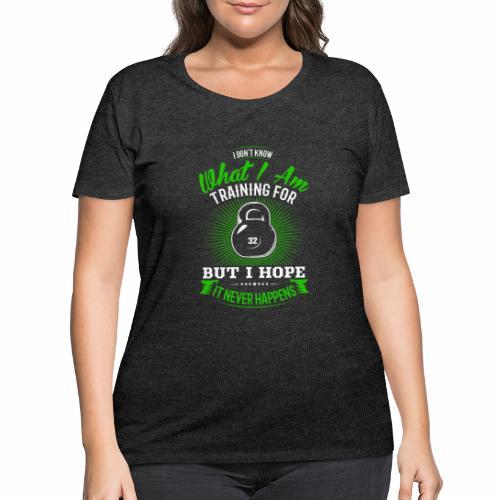 Workout Training - Women's Curvy T-Shirt