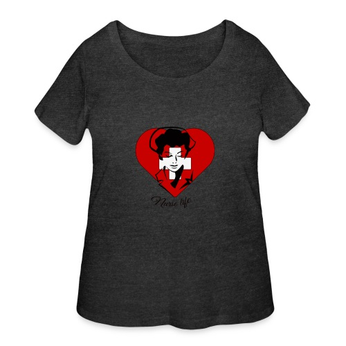 nurselife - Women's Curvy T-Shirt