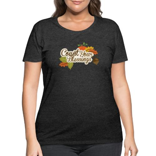 Count your blessings - Women's Curvy T-Shirt