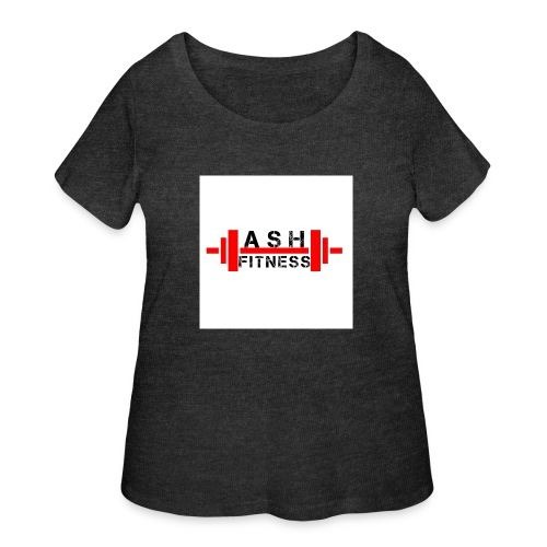 ASH FITNESS MUSCLE ACCESSORIES - Women's Curvy T-Shirt