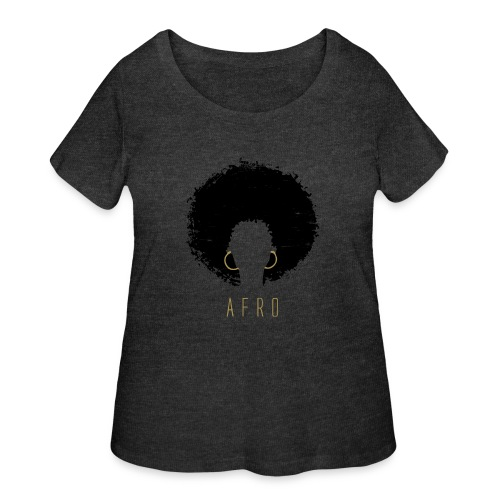 Black Afro American Latina Natural Hair - Women's Curvy T-Shirt