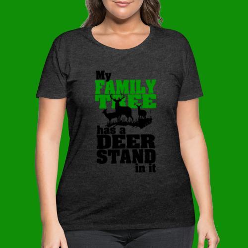 Deer Stand Family Tree - Women's Curvy T-Shirt