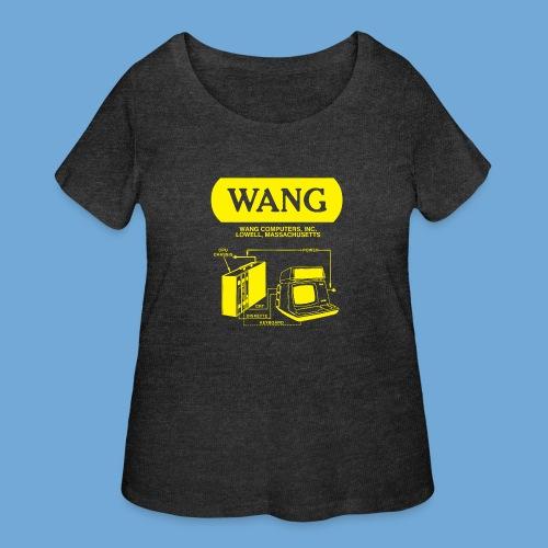 Wang Computers - Yellow - Women's Curvy T-Shirt