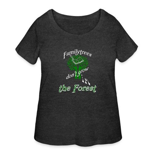 genealogy family tree forest funny birthday gift - Women's Curvy T-Shirt