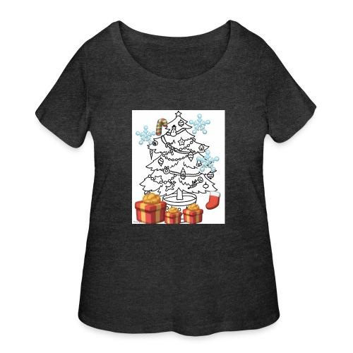 Christmas is here!! - Women's Curvy T-Shirt