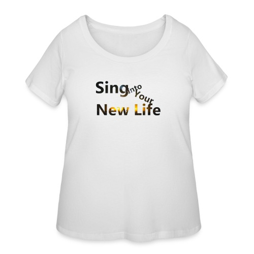 Sing in Brown - Women's Curvy T-Shirt
