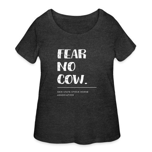 Fear no cow. - Women's Curvy T-Shirt
