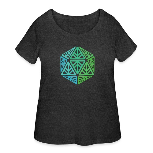 Green Leaf Geek Iconic Logo - Women's Curvy T-Shirt