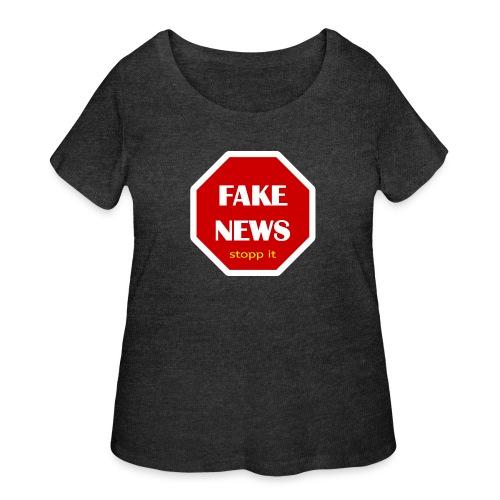 fake news - stopp it - Women's Curvy T-Shirt