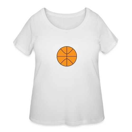 Plain basketball - Women's Curvy T-Shirt