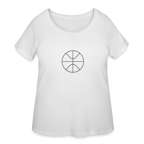 Basketball black and white - Women's Curvy T-Shirt